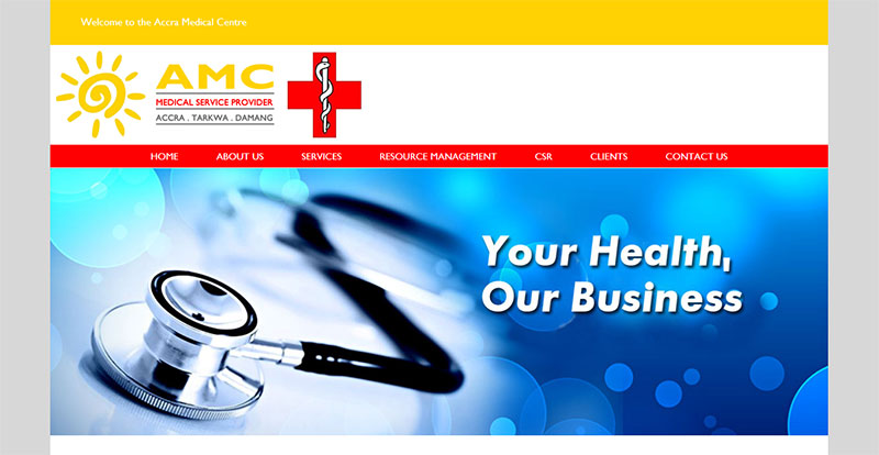 Accra Medical Centre Homepage