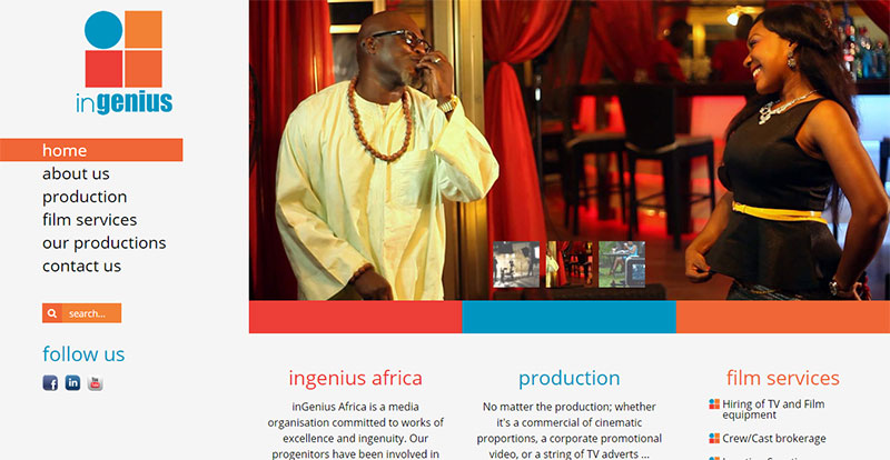 inGenius Africa Homepage