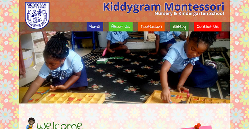 Kiddygram Montessori School Homepage
